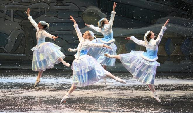 "The Eugene Ballet's dancers present a dance from ""The Nutcracker"""