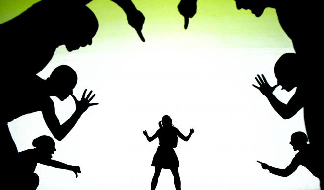 Catapult Shadow Dance using shadows during a performance to visualize bullying.