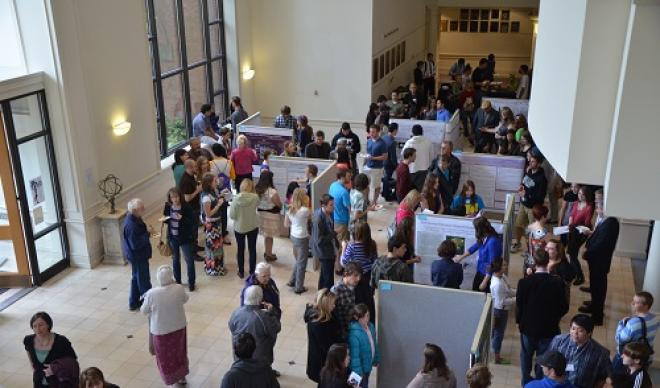 Students gather for the annual Student Research Conference.