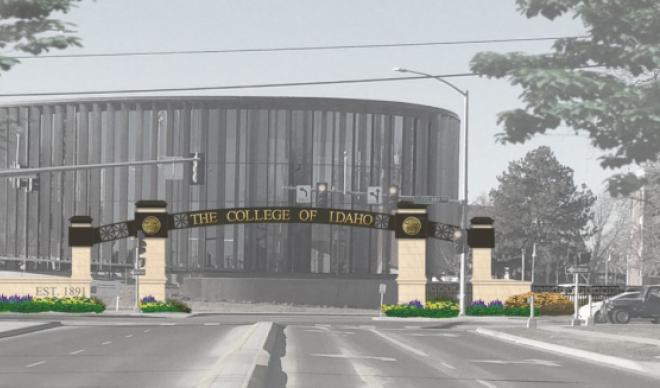 A rendering of the $1 million Smith Welcoming Arch project, depicting the arch as will be seen on Cleveland Boulevard and 21st Street.