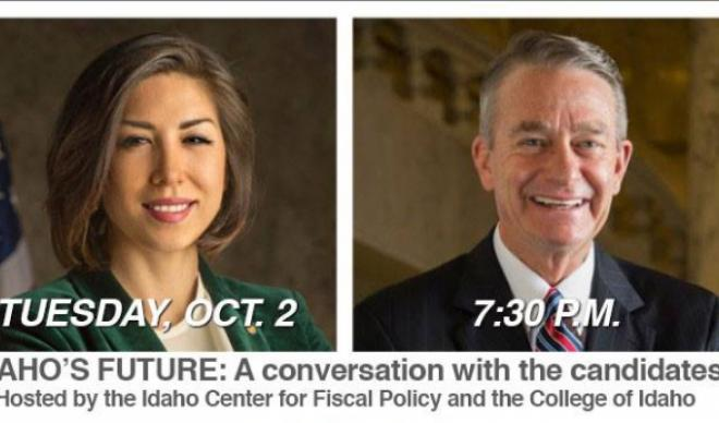 Gubernatorial candidates Paulette Jordan and Brad Little will hold their first on-stage discussion at The College of Idaho on Oct. 2, 2018.