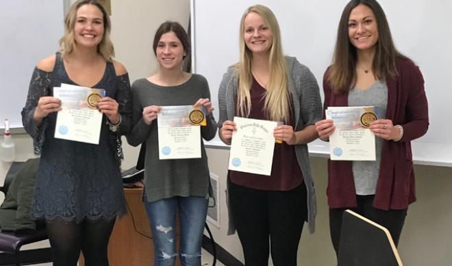 Four inducted into ODK honor society