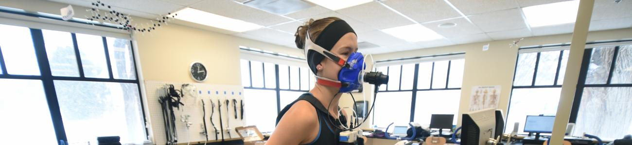 Student in Human Performance Lab