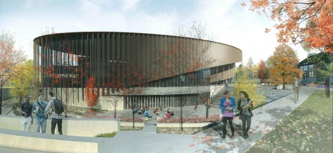 Architectural Rendering of Cruzen-Murray Library