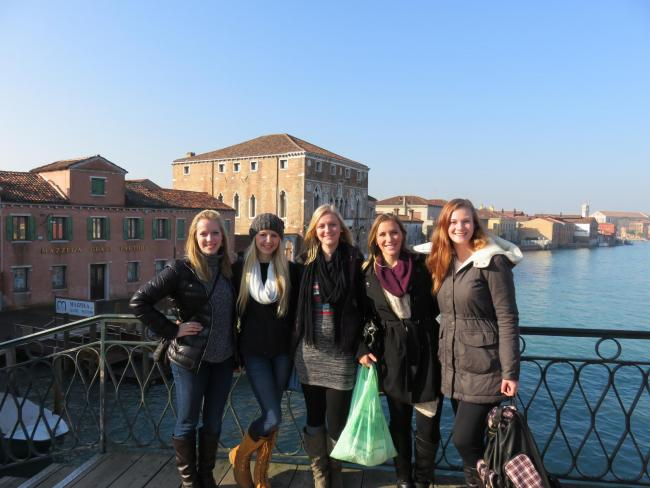 C of I students in Venice, Italy