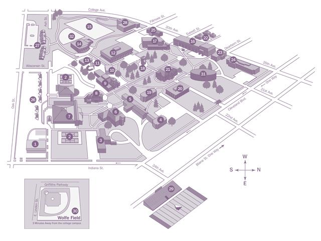 Campus Map | The College of Idaho on mica campus map, dvc college campus map, martin college campus map, north idaho college campus map,